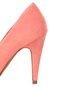 Anne Michelle Adoncia 01 Melon Pointed Pumps at Lulus.com!