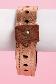 Amy Waltz Jam Band Copper Leather Cuff Bracelet at Lulus.com!