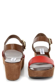Steve Madden Alisse Coral Multi Flatform Wedge Sandals at Lulus.com!