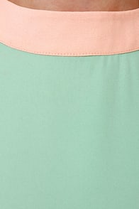 Sundaes Best Peach Color Block Dress at Lulus.com!