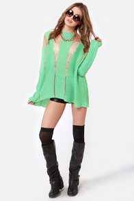 Mad Tatters Mint Green Sweater at Lulus.com!