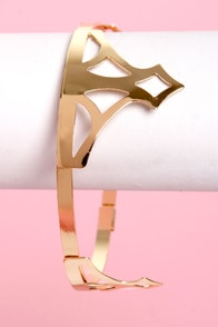 Crownie Points Gold Bracelet at Lulus.com!