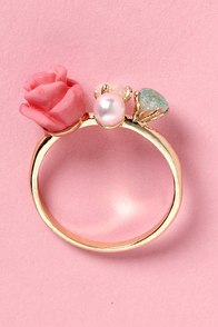 Rose and Aahs Pink Rose Ring at Lulus.com!