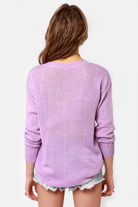 Beachcomber Oversized Lavender Sweater at Lulus.com!
