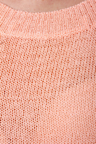 Beachcomber Oversized Peach Sweater at Lulus.com!