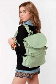 Lily Pond Legends Mint Green Backpack at Lulus.com!