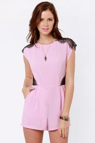 Lace Likely Pink Romper