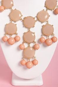 Georgia Peach Statement Necklace at Lulus.com!