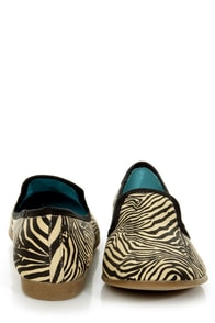 Blowfish Quick Natural Zoo Print Smoking Slipper Flats at Lulus.com!