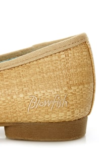Blowfish Quick Natural Faux Straw Smoking Slipper Flats at Lulus.com!