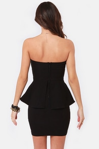 Wishy Posh-y Strapless Black Dress at Lulus.com!
