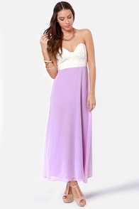 LULUS Exclusive Pastel-Tale Heart Lavender Maxi Dress at Lulus.com!