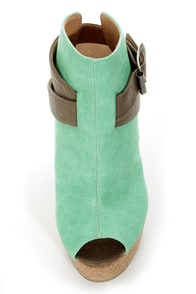 GoMax Limited Edition 02 Mint and Taupe Platform Booties at Lulus.com!