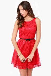 BB Dakota by Jack Azura Red Lace Dress
