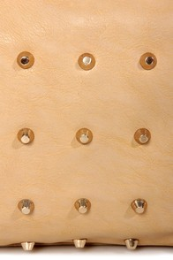 Like, Tote-ally Studded Beige Tote at Lulus.com!