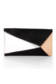 Edge Allegiance Black Color Block Clutch at Lulus.com!