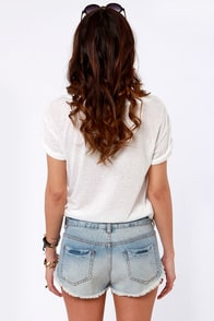 Billabong Laneway Distressed Cutoff Denim Shorts at Lulus.com!