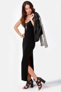 Break for It Black Maxi Dress at Lulus.com!