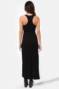Break for It Black Maxi Dress at Lulus.com!