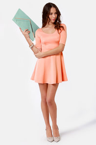 Month of Sundaes Peach Dress at Lulus.com!