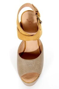 GoMax Limited Edition 01 Tan Textured Platform Sandals at Lulus.com!