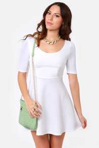 Month of Sundaes Ivory Dress at Lulus.com!