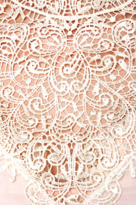 Fancy Meeting You Cream Lace Top at Lulus.com!