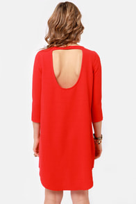 BB Dakota Noland Red Shift Dress at Lulus.com!