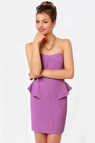 Wild Orchid Strapless Purple Dress