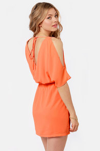 Melon of Troy Coral Dress at Lulus.com!