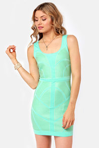 Maybe I'm A-Maze-d Turquoise Sequin Dress at Lulus.com!