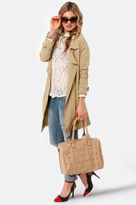 BB Dakota Austine Khaki Jacket at Lulus.com!