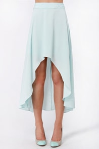 Raid the Braid Light Blue Skirt at Lulus.com!