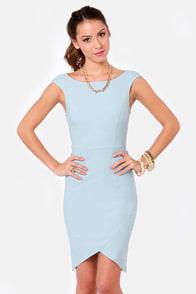 LULUS Exclusive Curve-age Under Fire Light Blue Midi Dress at Lulus.com!