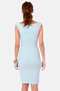 LULUS Exclusive Curve-age Under Fire Light Blue Midi Dress at Lulus.com!