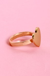 Wanna Be Heartin' Something Gold Heart Ring at Lulus.com!