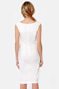 LULUS Exclusive Curve-age Under Fire White Midi Dress at Lulus.com!