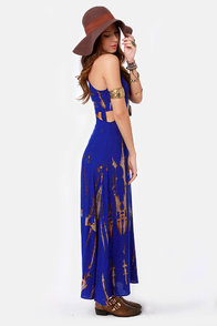 Do or Dye Tie-Dye Blue Maxi Dress at Lulus.com!