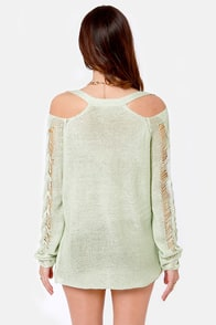 Right Said Shred Mint Sweater at Lulus.com!