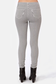 Stripe Dream Black and White Striped Pants at Lulus.com!