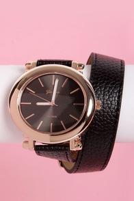 Oh Snap! on the Wrist Wraparound Black Watch
