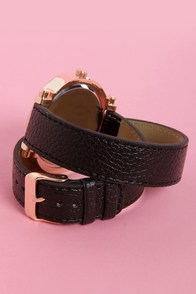 Oh Snap! on the Wrist Wraparound Black Watch at Lulus.com!