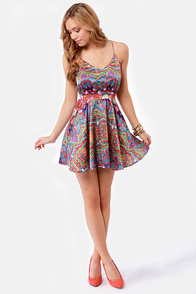 Lucy Love Penelope Paisley Print Dress at Lulus.com!