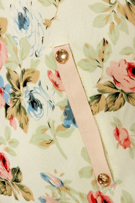 Varsity Blooms Blush Floral Print Jacket at Lulus.com!