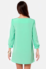Sorbet-by Doll Mint Green Shift Dress at Lulus.com!