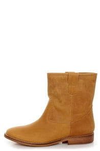 MTNG Morgana Valle Habana Camel Leather Ankle Boots at Lulus.com!