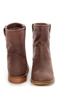 MTNG Morgana Valle Moka Brown Leather Ankle Boots at Lulus.com!