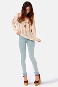 Right Said Shred Beige Sweater at Lulus.com!