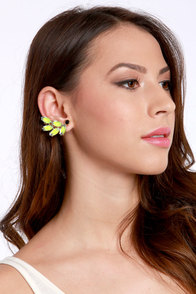 Onwards and Upwards Neon Yellow Ear Cuffs at Lulus.com!