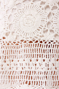 Billabong Open Heart Crocheted Ivory Dress at Lulus.com!